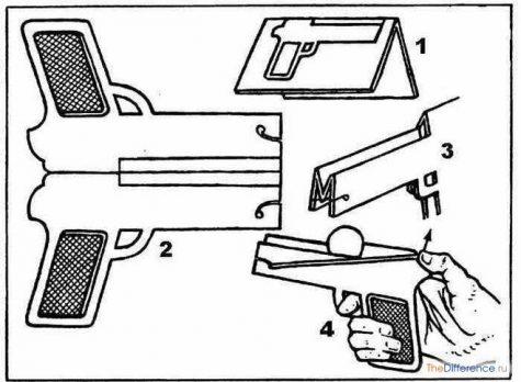 Как сделать пистолет пули из бумаги - Gallery-Oskol.ru