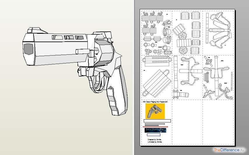 Как сделать пистолет из бумаги а4 видео - Gmpruaz.ru