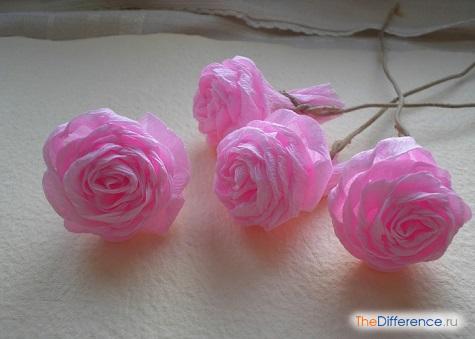 как делать цветы из гофрированной бумаги