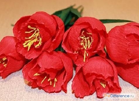 как делать цветы из гофрированной бумаги инструкция