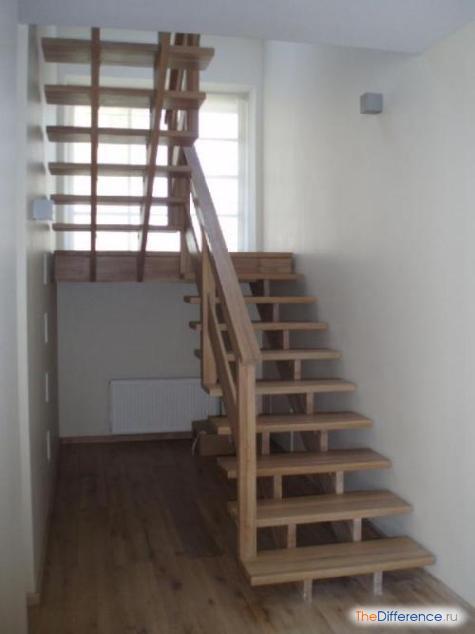 Как построить лестницу на второй этаж