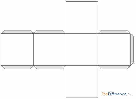 Коробка в форме куба
