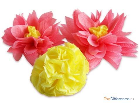 Бумажные цветы своими руками из салфеток как сделать