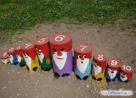 как украсить детскую площадку своими руками