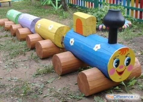 как можно украсить детскую площадку своими руками