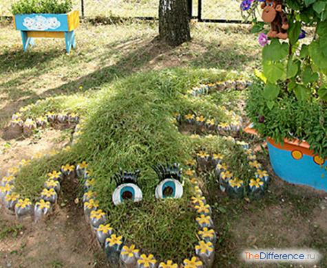 Декор для сада своими руками из пластиковых бутылок