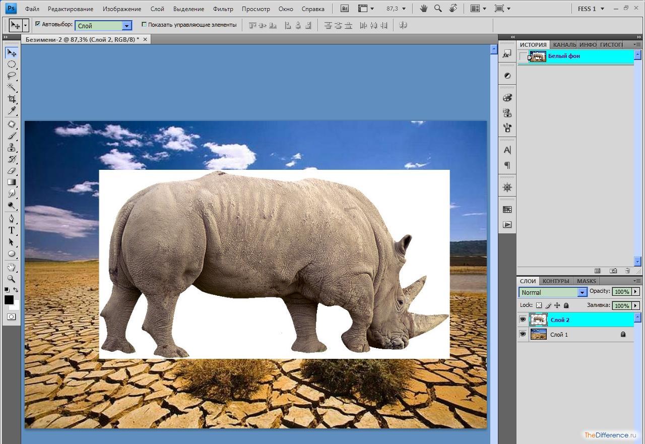 как удалить белый фон с картинки