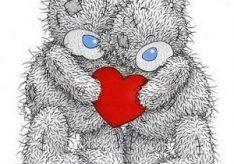 Как нарисовать мишку Тедди с сердечком?