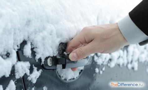 как открыть замерзшую дверь машины