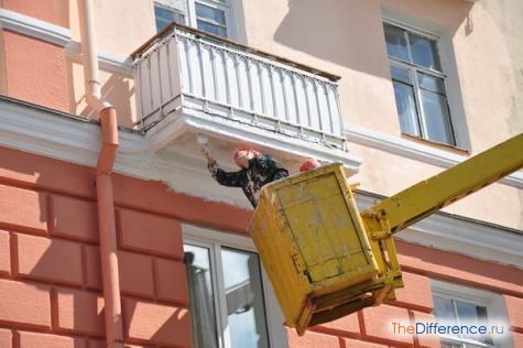 как покрасить балкон фото