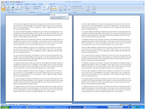 Как сравнить два документа Word