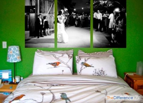 как красиво украсить комнату фотографиями