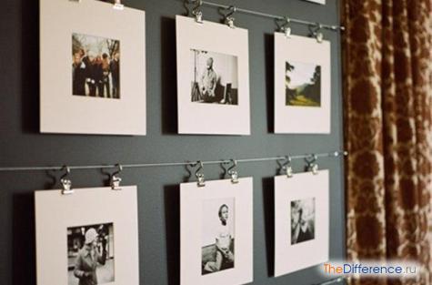как можно украсить комнату фотографиями