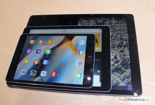 разница между Apple iPad Air 2 и iPad Pro
