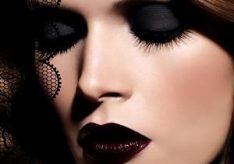 Как красить глаза черными тенями?