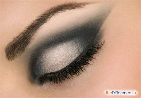 как правильно красить глаза черными тенями фото
