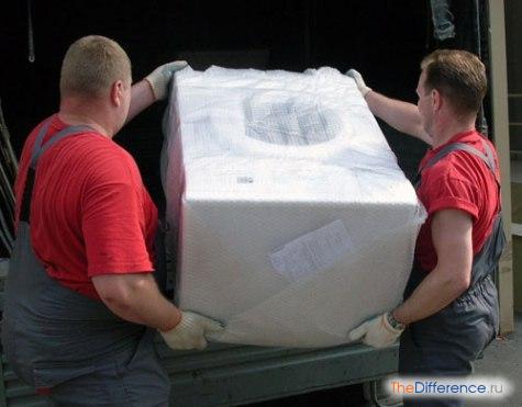как перевозить стиральную машину