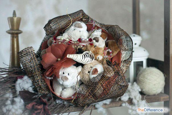 Как собрать букет из игрушек своими руками