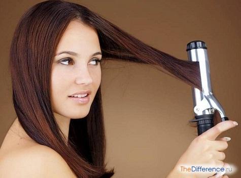 как выпрямить волосы плойкой