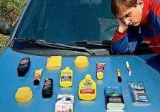 Как закрасить царапины на машине?