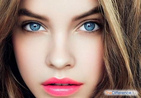 какой цвет волос подходит к голубым глазам