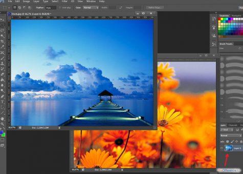 как накладывать слои в photoshop