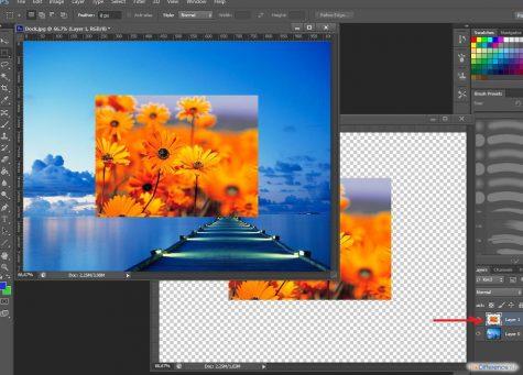 Как в фотошопе накладывать рисунки