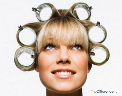 как накрутить волосы на бигуди липучки