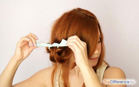 как накрутить волосы на бумажки фото