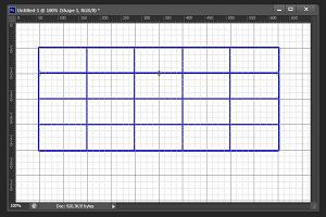 Как нарисовать таблицу в фотошопе