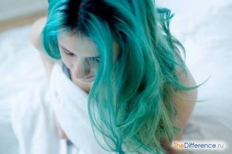 как покрасить волосы в зеленый цвет