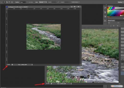 как приблизить фото в фотошопе