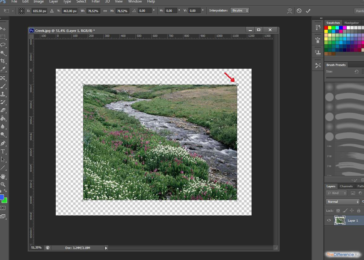 как приблизить фото в фотошопе cs6