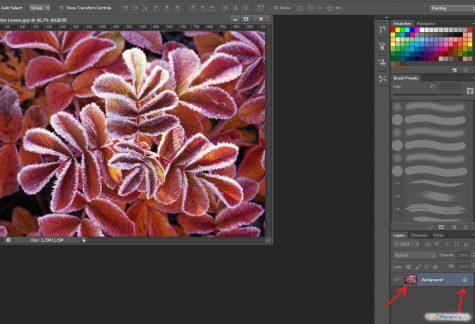 как разблокировать слой в фотошопе