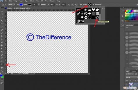 как сделать копирайт на фото в фотошопе