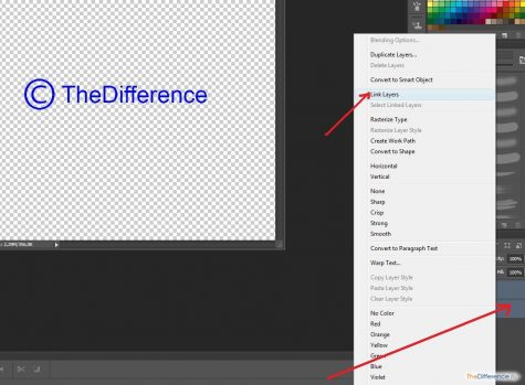 как сделать копирайт в photoshop