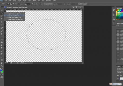 как сделать круглую рамку в фотошопе