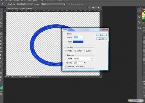 как сделать круглую рамку в photoshop