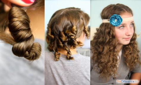 как завить волосы на ночь без бигуди
