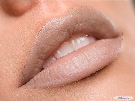 правильно накрасить губы в фотошопе
