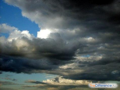 чем отличается туча от облака