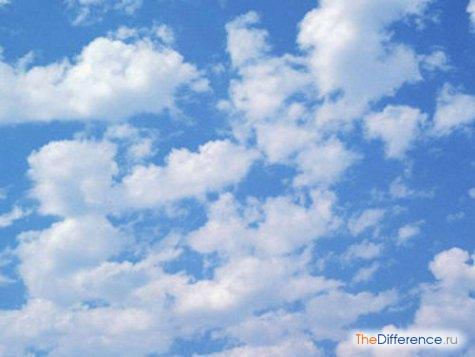 отличие тучи от облака
