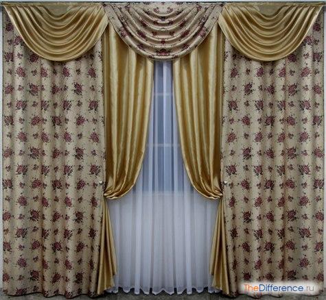 разница между шторами и портьерами