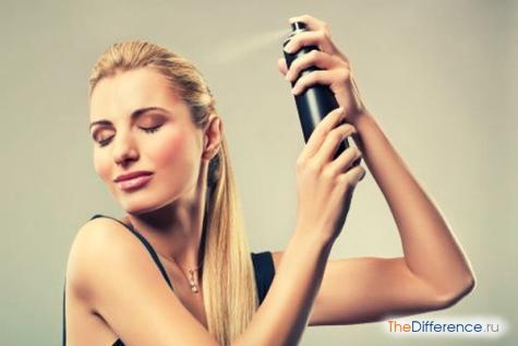 как пользоваться лаком для волос