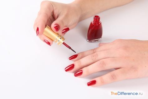 как ровно красить ногти