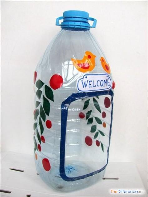 Скворечник из бутылки пластиковой