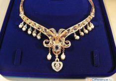 Разница между колье и ожерельем