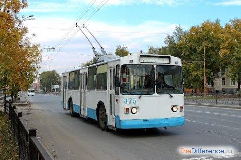 отличие трамвая от троллейбуса