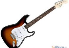 Разница между электрогитарой и акустической гитарой