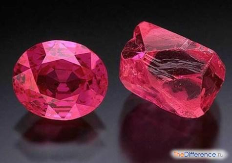 в чем разница между корундом и рубином